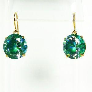 e0a11e8410c4ad KATE SPADE Teal Crystal GP Round Dangle Earrings